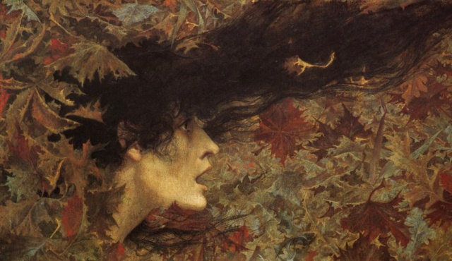 Lucien Levy-Dhurmer La Bourrasque Gust of Wind oil on canvas1896