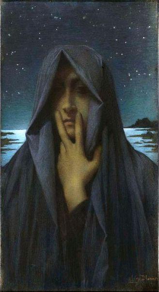 Lucien Levy-Dhurmer Le Silence 1895 pastel