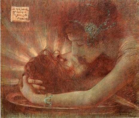 """""""Salomé embrassant la tête de Saint Jean"""" (1896, pastel)"""