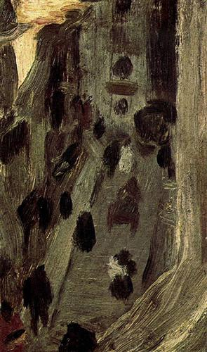 Pablo Picasso View of Riera de Sant Joan from the Window 1900 oil on wood