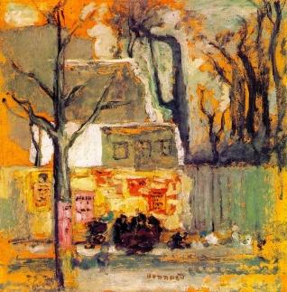 """A Corner of Paris"" (c1905, oil on cardboard)by Pierre Bonnard"