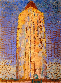 """Lighthouse at Westkapelle"" (1910, oil on canvas)by Piet Mondrian"
