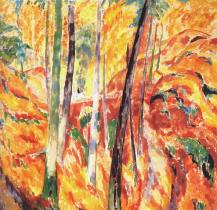 """The Ravine"" (1913, oil on canvas)by Rik Wouters"