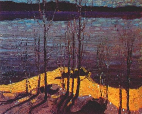 TomThomson-Moonlight-and-Birches-1916-17