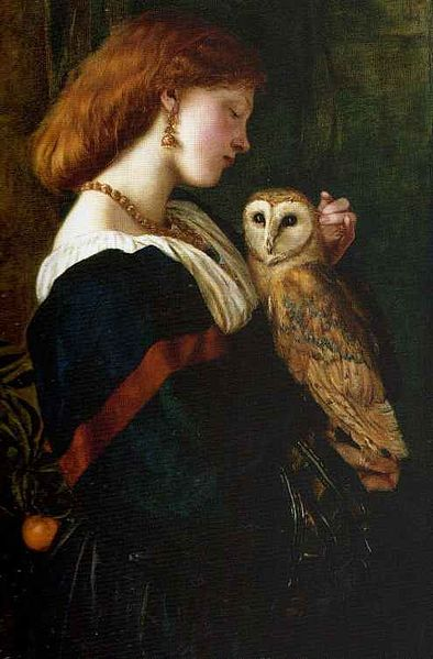 Valentine Cameron Prinsep Il Barbagianni aka The Owl 1863 oil on canvas