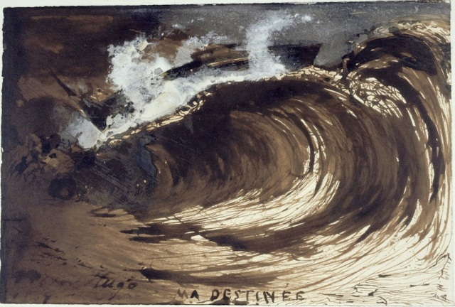 Victor Hugo Ma destinée 1867 ink and brown ink wash