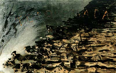 Victor Hugo Torquemada ink wash on paper