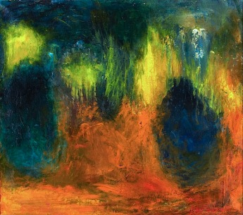 """Forest Vision"" (1968, oil on canvas)by Violet Tenberg"