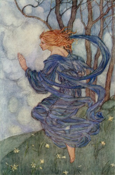 Emma Florence Harrison The Wind illustration to the poem by William Morris