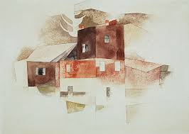 Charles Demuth Old Houses 1917