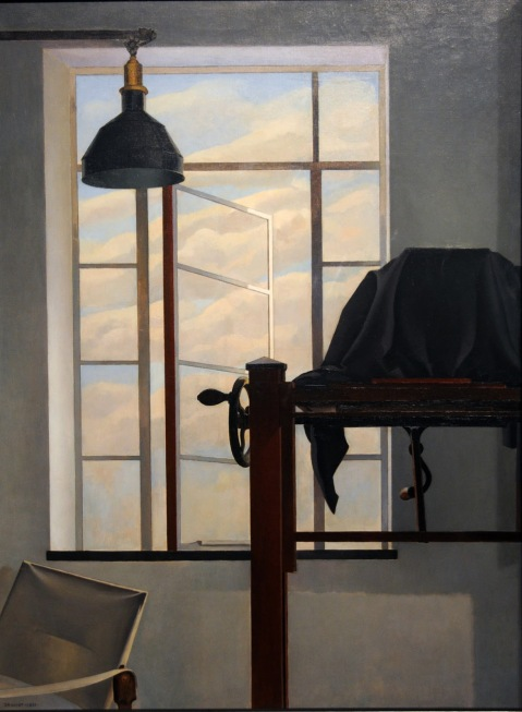 """View of New York"" (1931, oil on canvas)by Charles Sheeler"