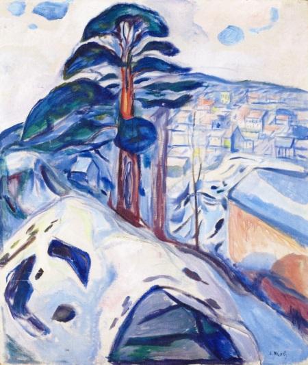 Edvard Munch Winter in Kragerø 1916 oil on canvas