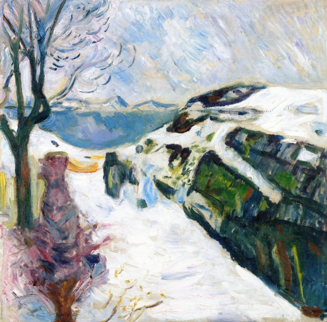 Edvard Munch Winter Landscape from Kragerø 1910 oil on canvas