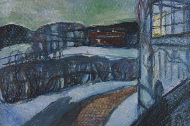 Edvard Munch Winter Night 1923 oil on canvas