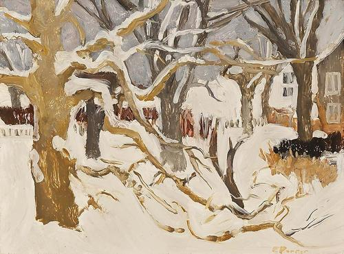 Fairfield Porter Winter Landscape 1958-61