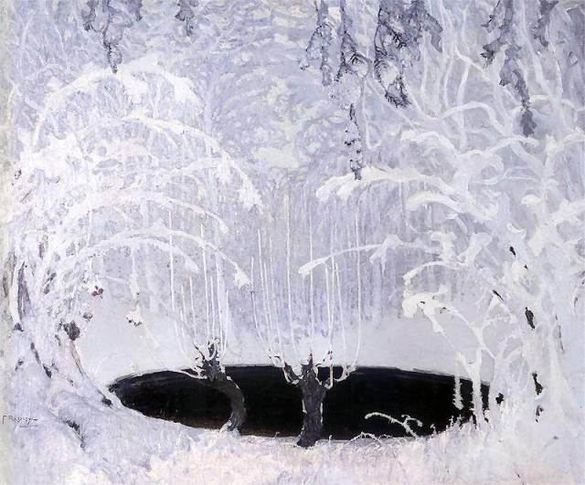 Ferdynand Ruszczyc Bajka zimowa 1904