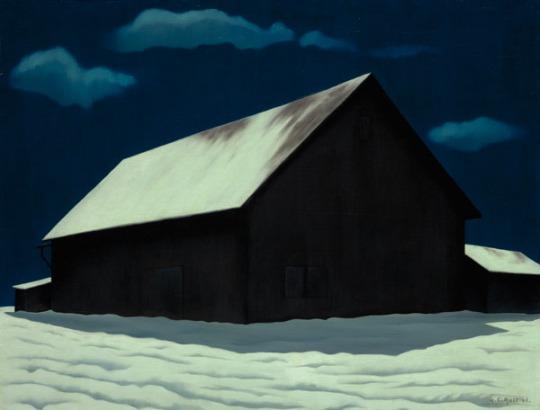 George Ault January Full Moon 1941 oil on canvas
