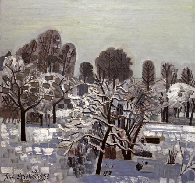 Jean Brusselmans Dilbeek sous la neige 1938