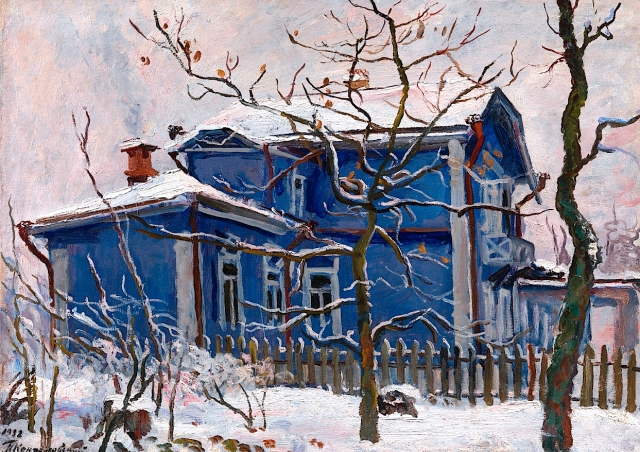 Pyotr Konchalovsky Blue House in Winter