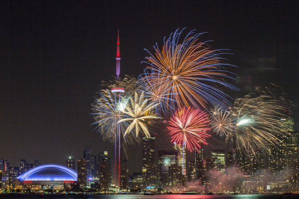 Toronto fireworks from Beautiful Pictures
