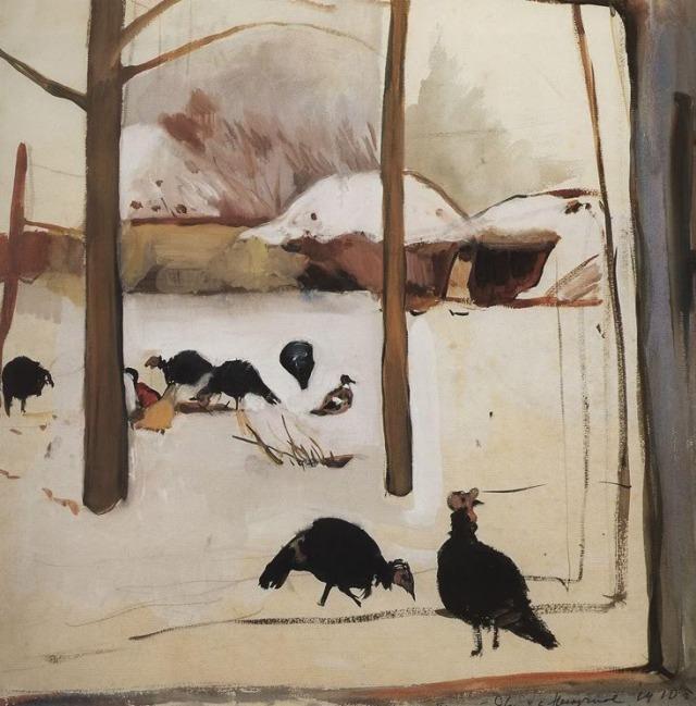 Zinaïda Serebriakova Poultry Yard 1910