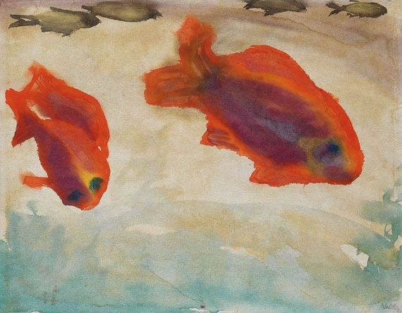 Emil Nolde Two Red Fish