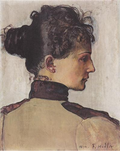Ferdinand Hodler Portrait of Berthe Jacques 1894 oil on canvas