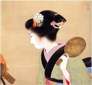 Coiffure (Oshidori-mage) by Uemura Shoen,1916