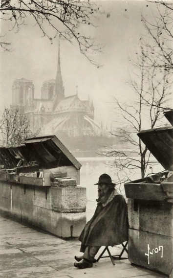 Pierre Yves-Petit aka Yvon, Le Bouquiniste Notre Dame in the mist), c1920s