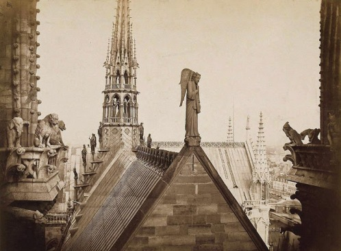 Pierre Yves-Petit aka Yvon, Notre Dame Spire from another angle, c1920s