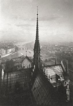 Pierre Yves-Petit aka Yvon, Notre Dame Spire, c1920s