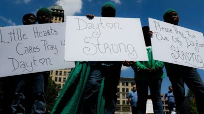Aftermath of Dayton Mass Shooting (John Minchillo/Shutterstock)