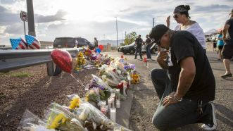 Memorial in aftermath of El Paso mass shooting (Wang Ying Xinhua News Agency/Newscom)